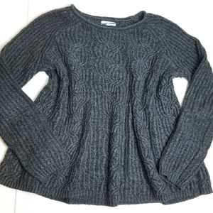 Cozy charcoal gray loose fit sweater
